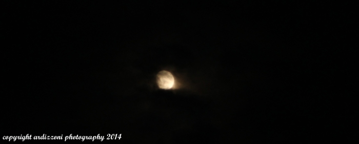 July 9, 2014 spooky almost full moon