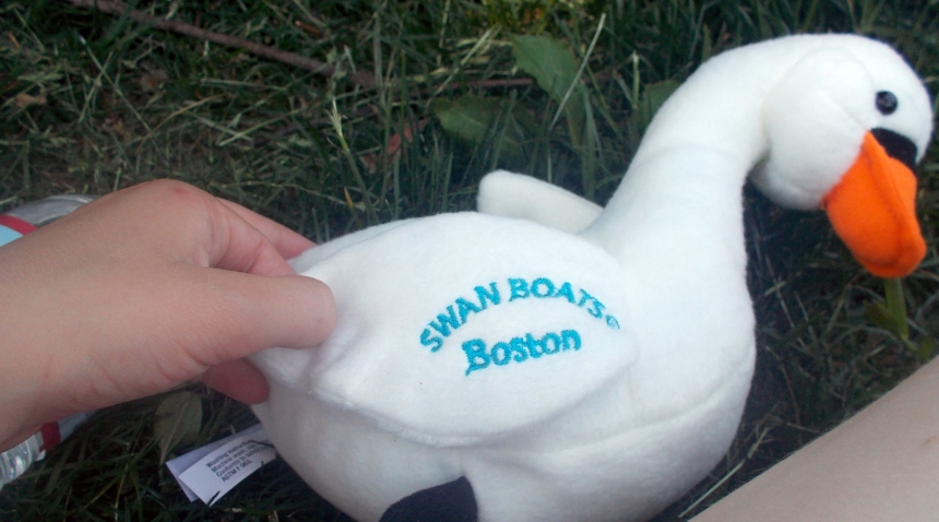 June 24, 2104 Swan Boats stuffed animal