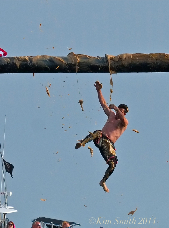 Mark Allen Sunday Greasy Pole Winner ©Kim Smith 2014. -3