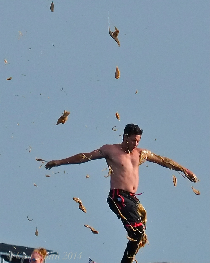 Mark Allen Sunday Greasy Pole Winner ©Kim Smith 2014. -4