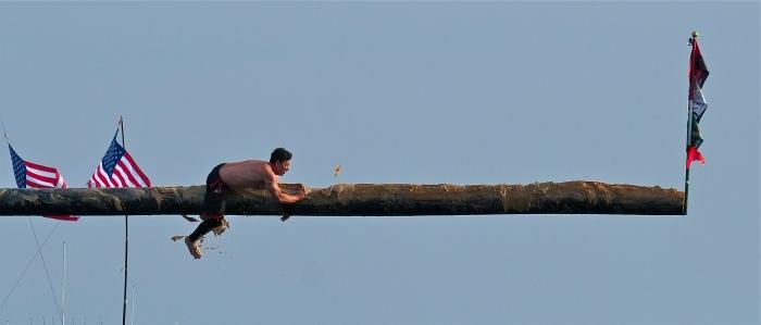 Mark Allen Sunday Greasy Pole Winner ©Kim Smith 2014
