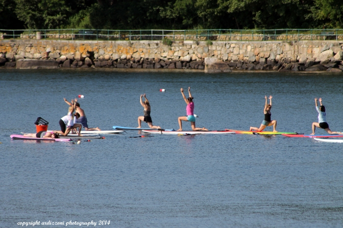 August 10, 2014 morning SUP yoga