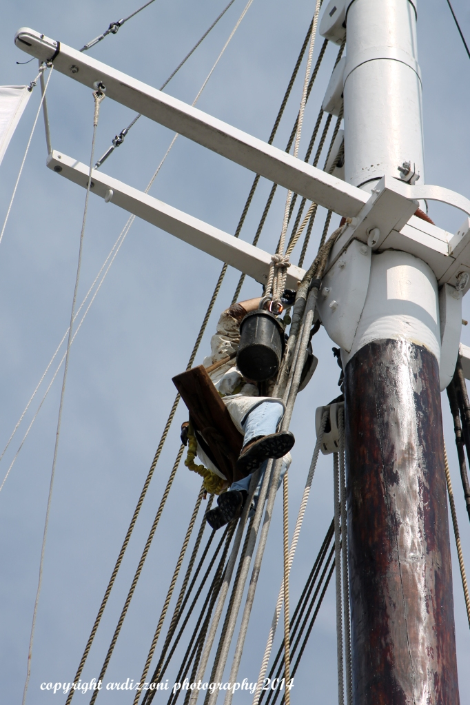 August 12, 2014 Sprucing up the The Schooner Adventure