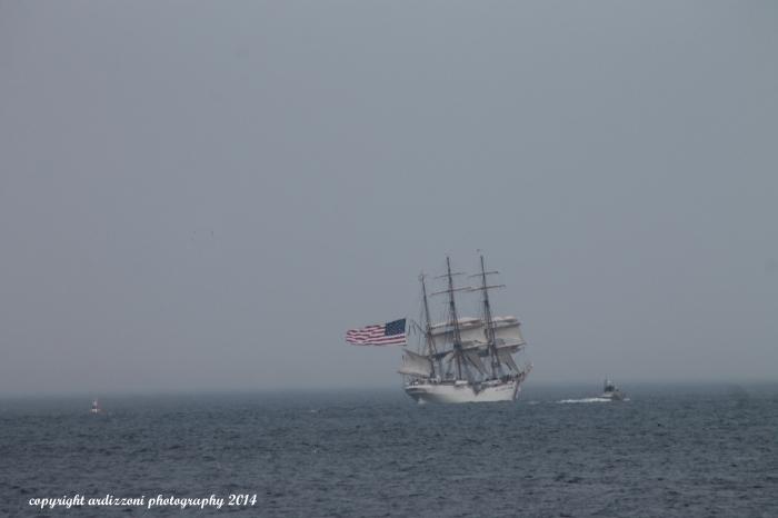 August 31, 2014 Coast Guard Eagle leaving off of Shore Road