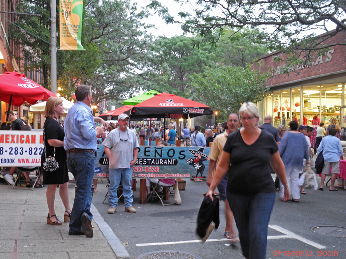 This was a great Block Party. It started busy and was jammed until 9 pm. Staying open this late was a milestone for me. Tomorrow, Sunday, will be a couch day for Fred.