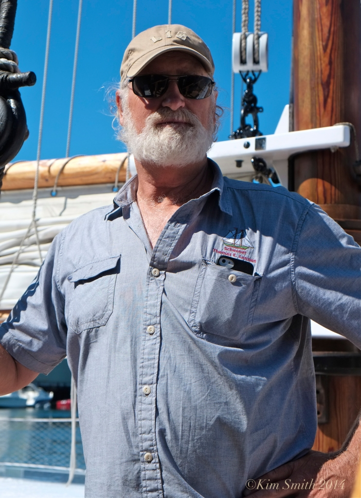 Captain Tom Ellis Schooner Lannon ©Kim Smith 2014