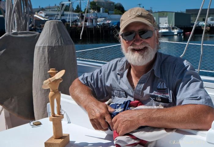 Captain Tom Ellis Schooner Lannon whirlygig -2 ©Kim Smith 2014JPG