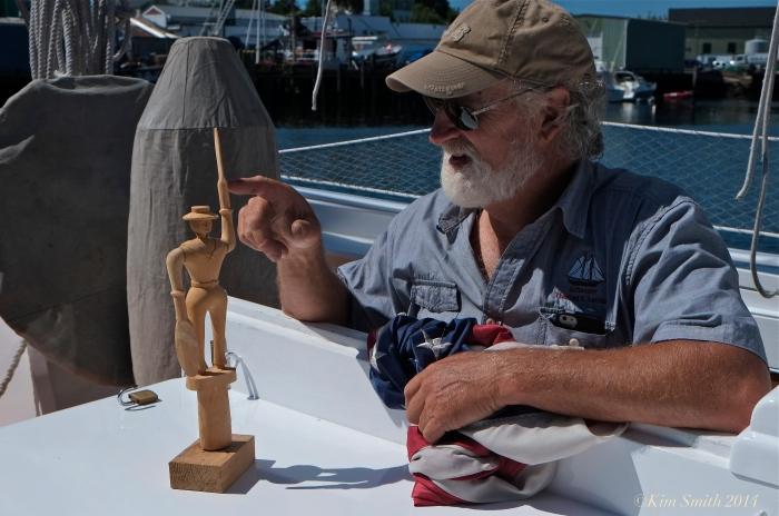 Captain Tom Ellis Schooner Lannon whirlygig ©Kim Smith 2014