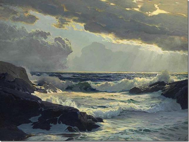 Frederick Judd Waugh, Freshening Breeze, 30 x 40, oc, John S. Newberry, Newberry Fine Art
