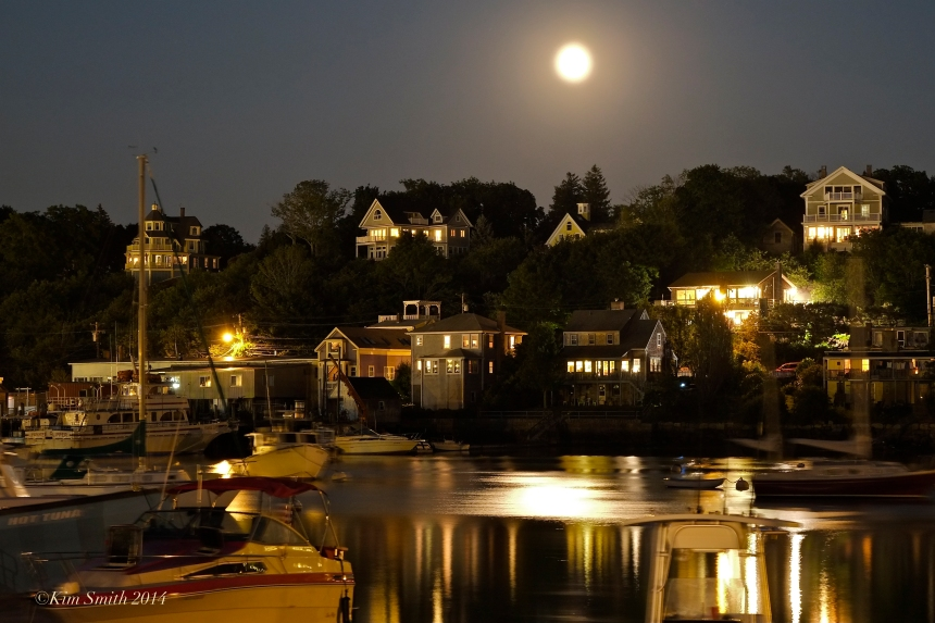 Full Sturgeon Moon August Rising East Gloucester MA ©Kim Smith 2014