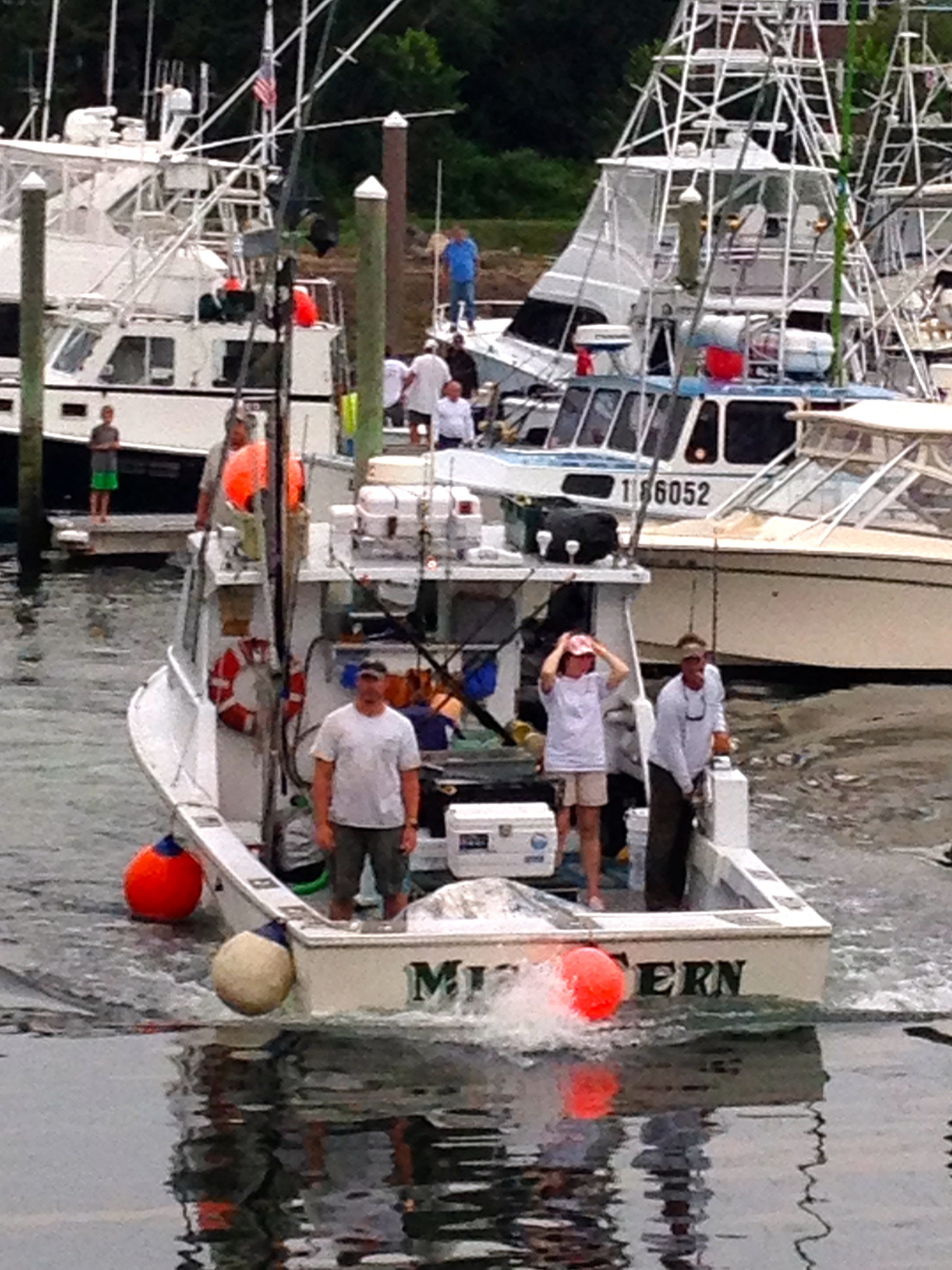 First Fish arrives at the dock