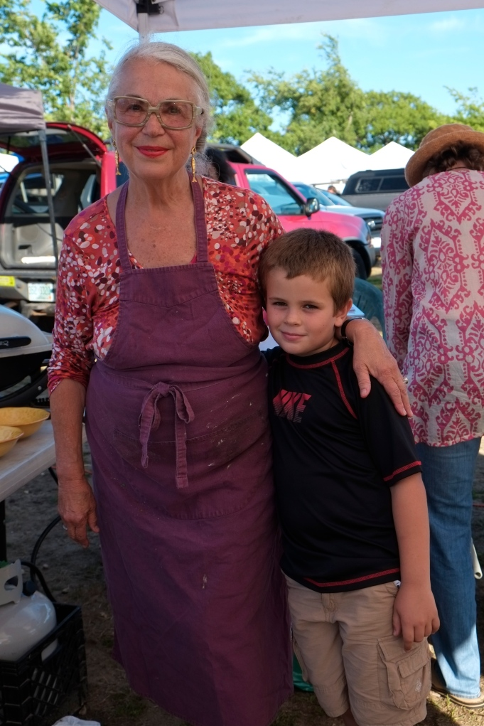 Rosalie Harrington grandson Ethan Gloucester Seafood Throwdown ©Kim Smith 2014