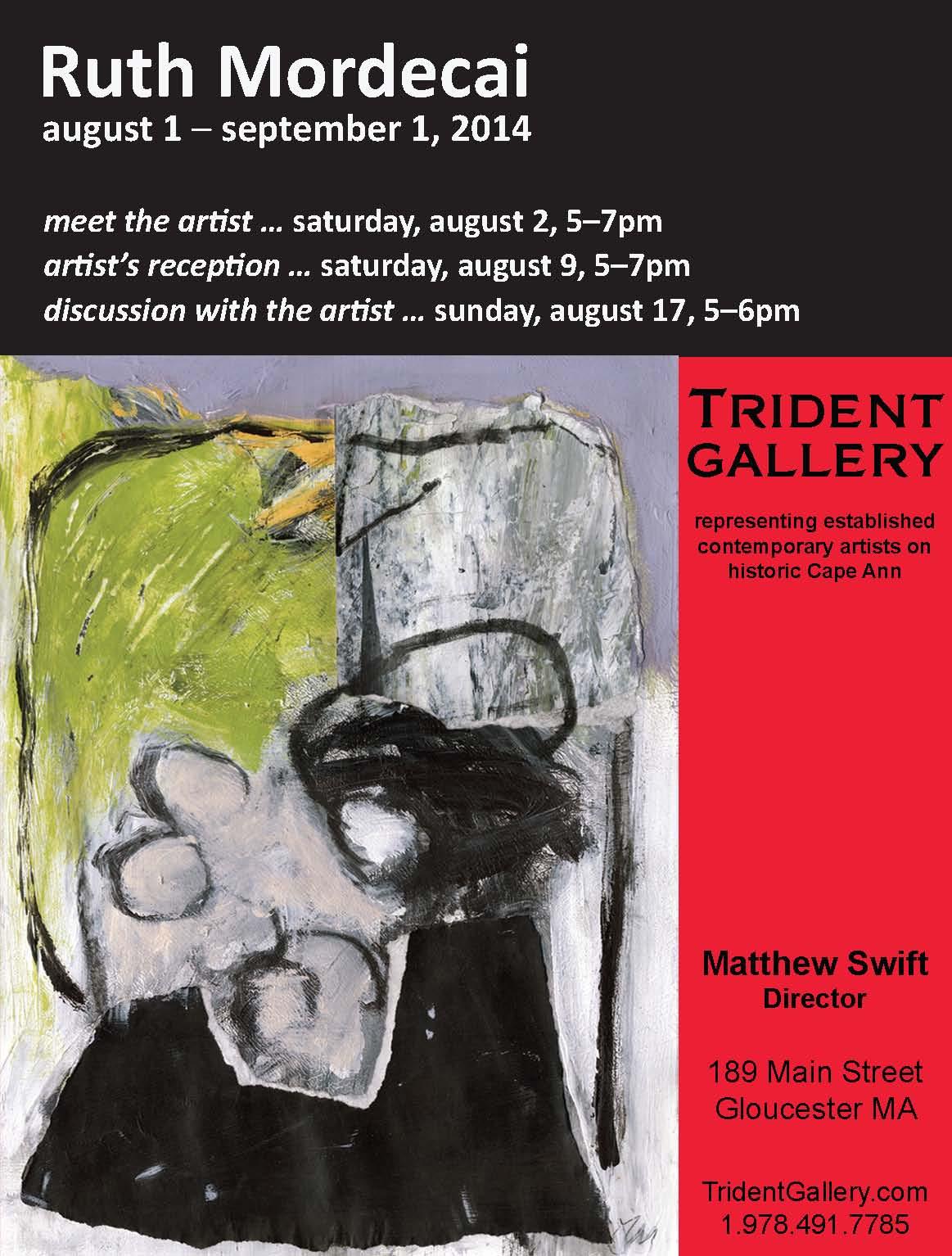 Ruth Mordecai Trident Gallery exhibit