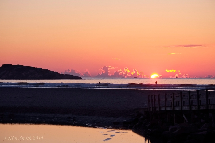Good Harbor Beach September sunrise SUP ©kim Smith 2014.