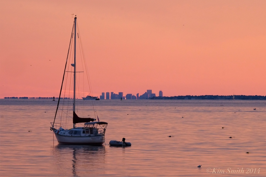 Niles Beach Boston skyline Gloucester sunset ©Kim Smith 2014