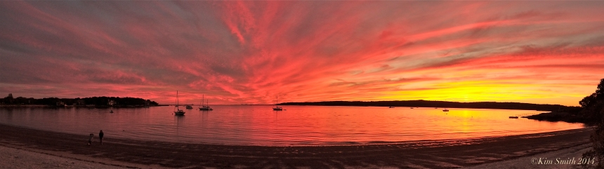 Niles Beach Gloucester Ma sunset panorama ©Kim Smith 2014