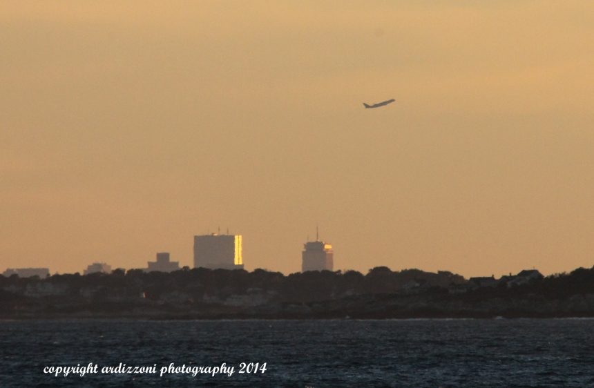 September 24, 2014 Sunset with Boston in background