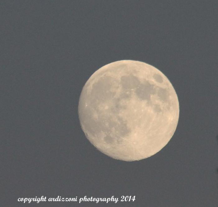 September 7, 2014 Full moon and sunset from Bex