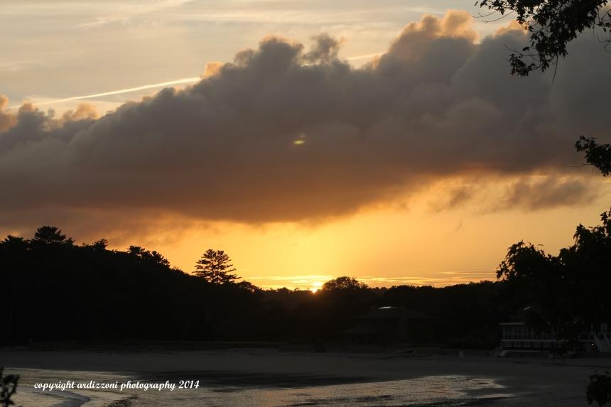 September 9, 2014 sun going down on Magnolia Beach