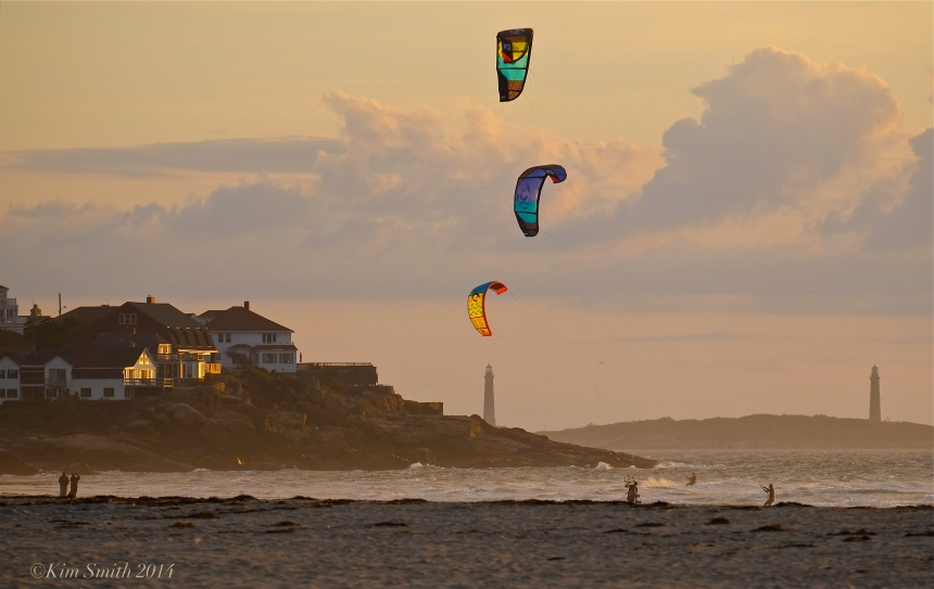Kitesurfing Kiteboarding Good Harbor Beach Gloucester -2 ©Kim Smith 2014