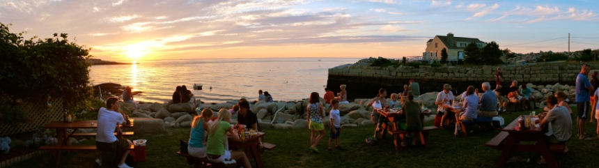 lobster-pool-rockport-panorama sunset ©Kim Smith 2012