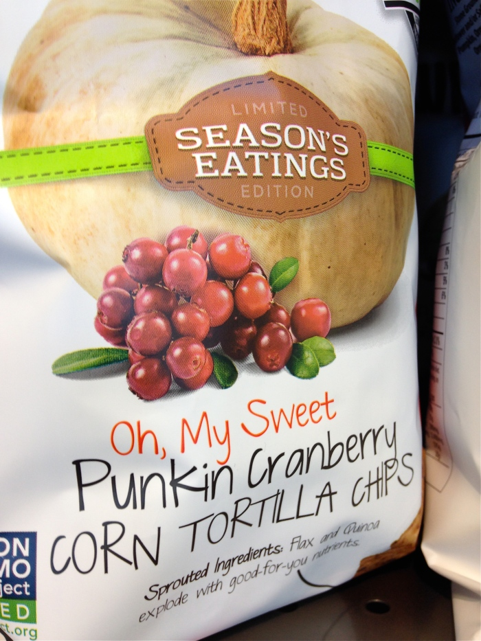 Punkin Cranberry tortilla chips ©Kim Smith 2014