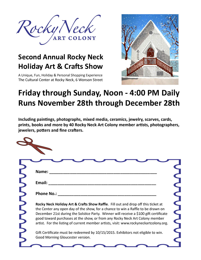 2014 holiday show raffle GMG