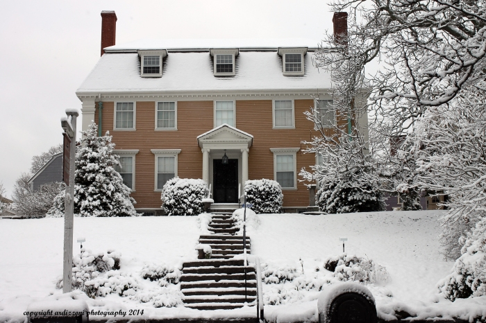 November 28, 2014 Mary Sargent House in the snow