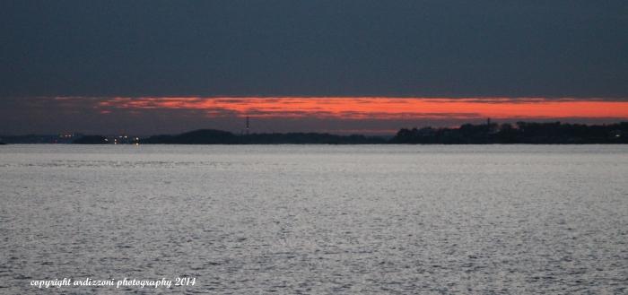 November 29, 2014 sunset overlooking Salem