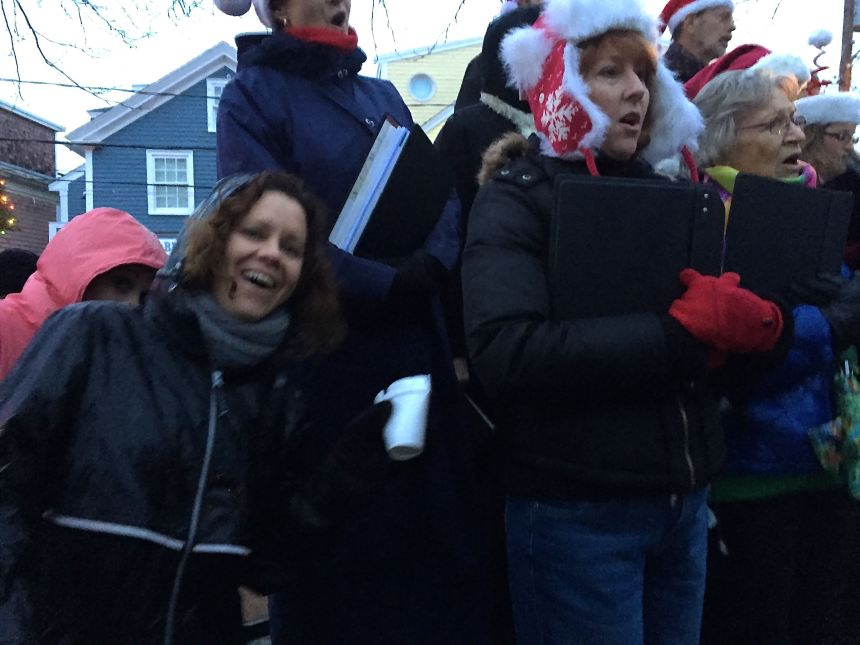 Did not get name but hilarious photobombing of the carolers.