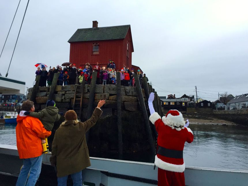 Then Bradley Wharf. Surprise! The tide is so low that Santa said no way is he going up that rickety ladder moving on.