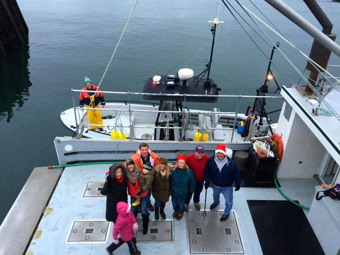 Santas helpers. Now here is where it gets weird. Harbormaster Scott Story is alone on the Harbormaster boat. Where did Harbormaster Rosemary Lesch go?