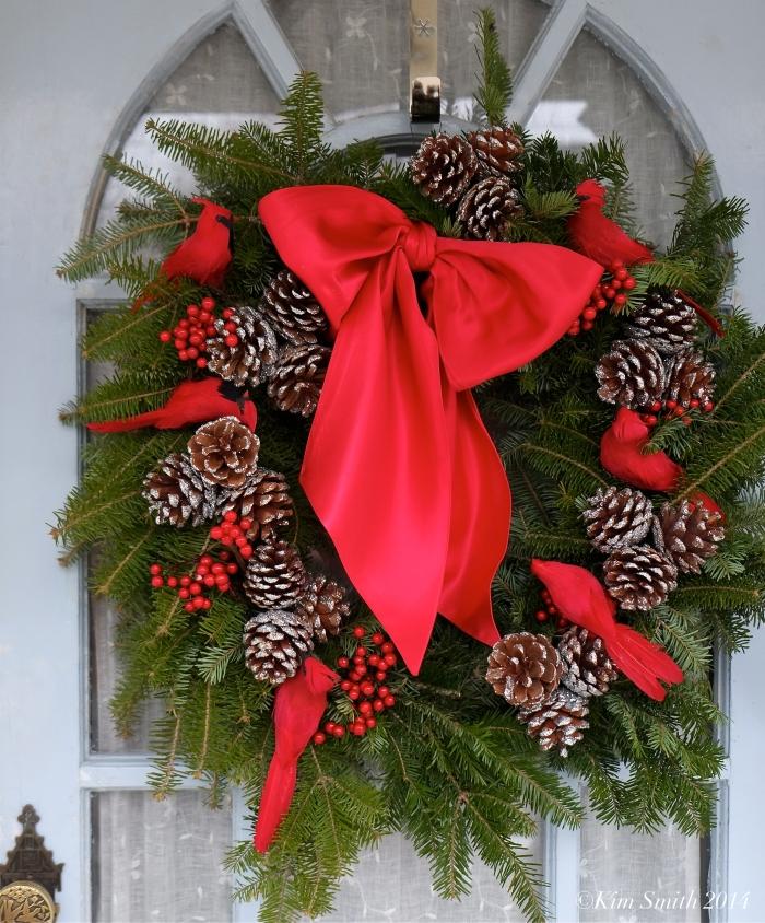 Cardinal Christmas wreath ©Kim Smith