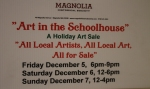 December 6, 2014 Art in the Schoolhouse