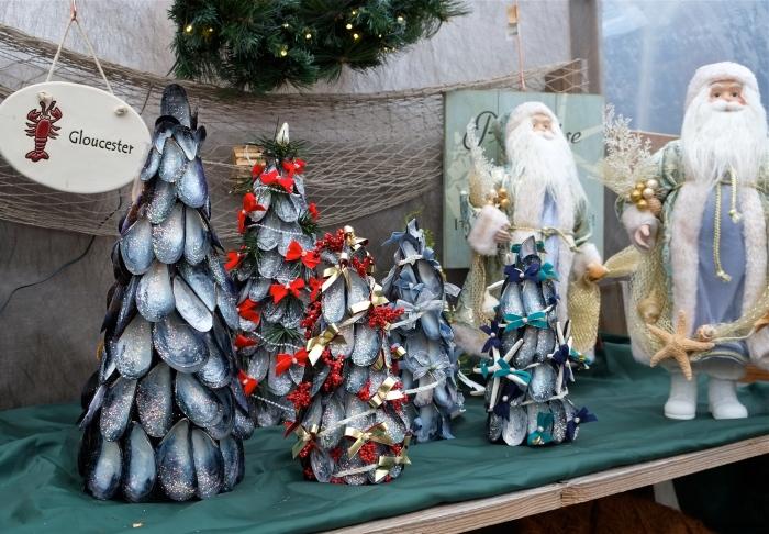 Grace Novello mussel shell Christmas trees ©Kim Smith 2014