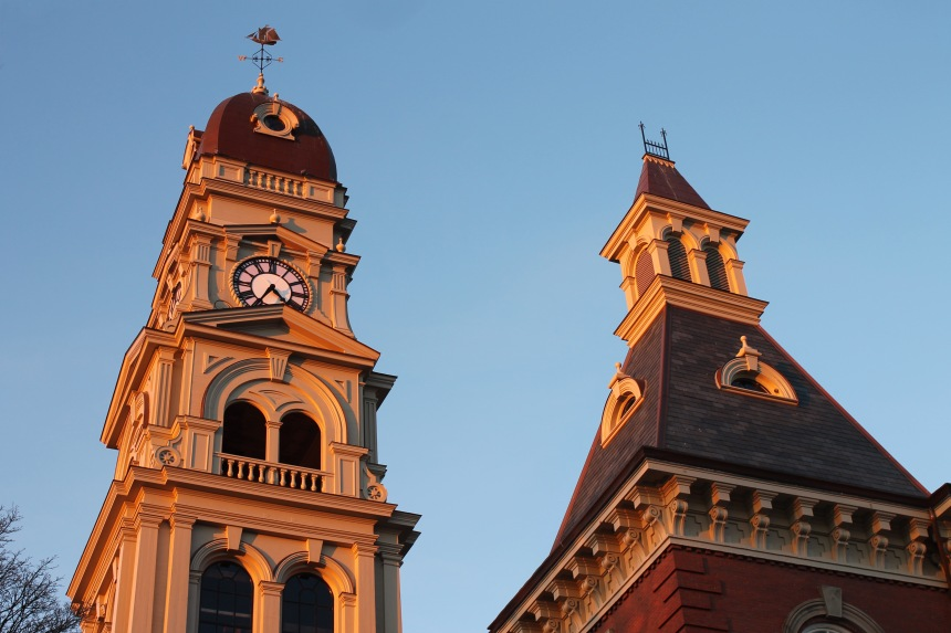 January 23, 2013 City Hall at as the sun is going down