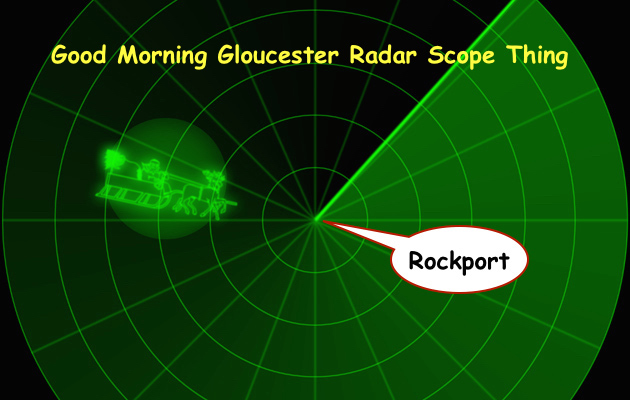 Noon Radar has spotted Santa Claus swooping in from the North Pole today. Santa then will transfer to the lobster Boat Freemantle Doctor for the ride into Rockport Harbor