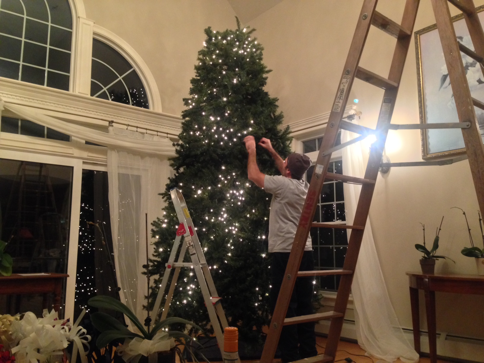 tree 1 st barry checking all 900 lights to find the problem - How To Fix Pre Lit Christmas Tree Lights