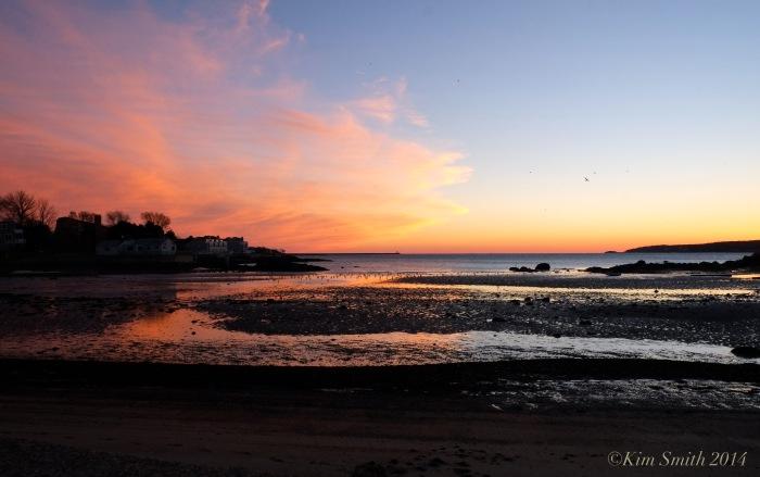 Wonson's Cove Flat Cove Landing sunset ©Kim Smith 2014.
