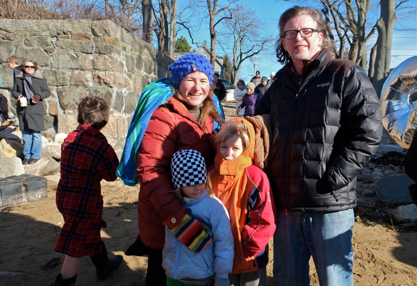 2015 Rocky Neck Plunge Michelle, Chris, Atticus, Meadow ©Kim Smith 2015