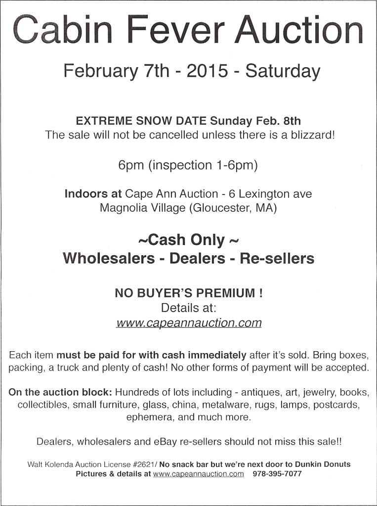 CabinFeverAuction