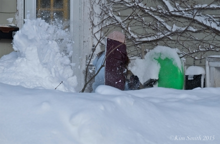 Colleen Digging Out Blizzard 2015 ©Kim Smith 2015