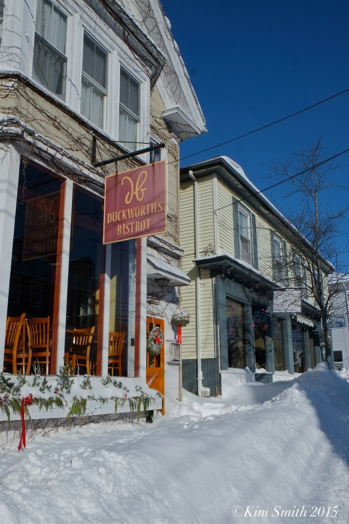 Gloucester Duckworth's Restaurant Blizzard 2015 ©Kim Smith 2015