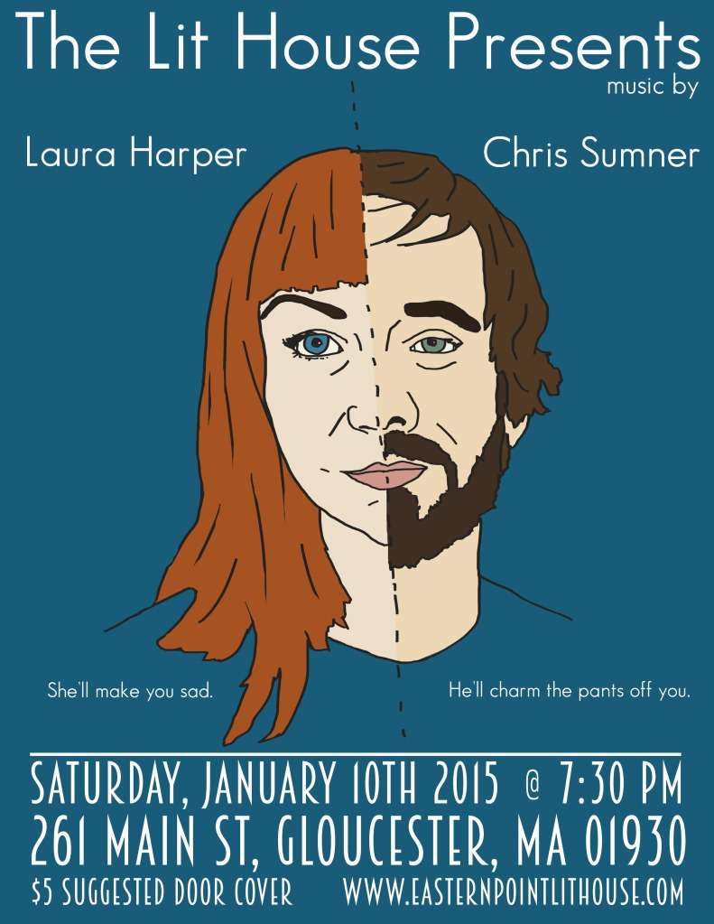 Harper Sumner Show at Lit House Flier Draft