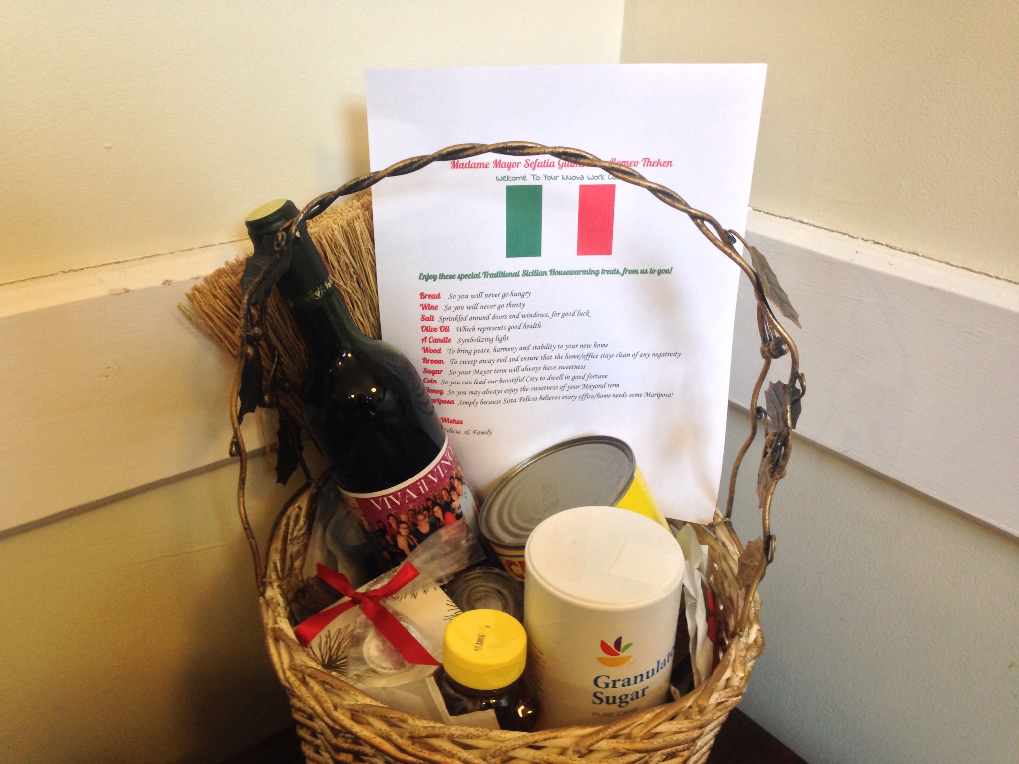 Welcome To Your New Home Away From Home/ Officeu003e Hope This Basket Of  Traditional Sicilian Housewarming/New Office Items Help You Settle In And  Make Your New ...
