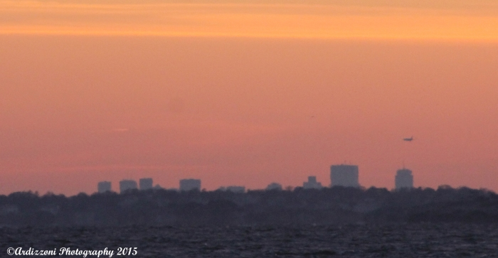 january 1, 2015 cold New Year Day view of Boston