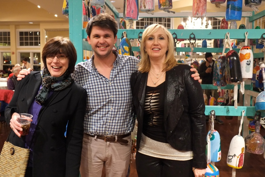 Nancy, Casey, Heidi Dallin LGloucester Stage Art Haven Buoy Auction ©Kim Smith 2015