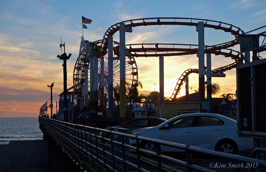 Santa Monica Pier Pacific Park roller coaster ©Kim Smith 2015