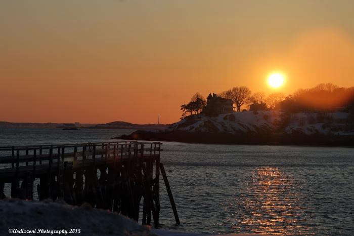 February 20, 2015 Glowing sunset