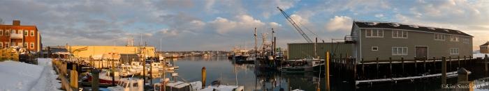 Gloucester Harbor Panorama ©Kim Smith 2015
